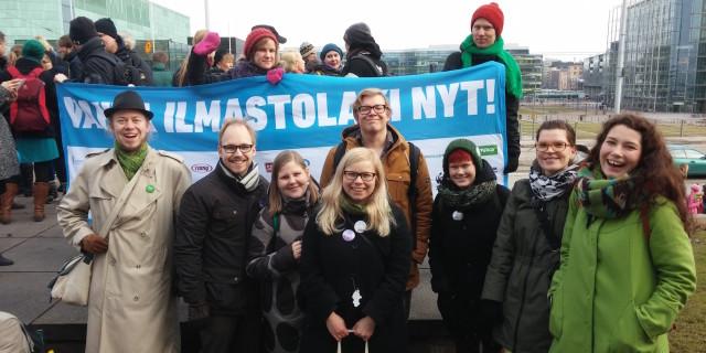 Ilmastolakimielenosoitus 25.2.2015