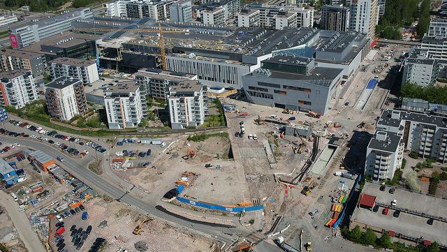 Kuva: Länsimetro, Matinkylä Ilmakuva: skyfoto.fi